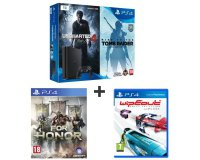 Auchan: PS4 Slim 1 To + Uncharted 4 + Tomb Raider + For Honor + Wipeout Omega à 369,99€