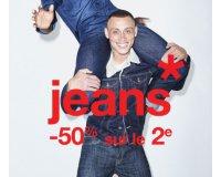 Celio*: 50% de réduction sur le 2ème jean acheté