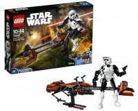 Amazon: Jeu de Construction LEGO Star Wars Scout Trooper & Speeder Bike (75532) à 35,50€