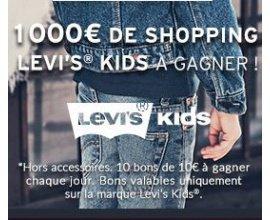 Kidiliz: 100 bons d'achat Levi's Kids de 10€ à gagner
