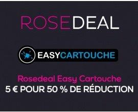 Vente Privée: Rosedeal Easycartouche : Payez 5€ pour 50% de bon de réduction sur vos cartouches d'imprimante