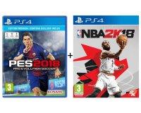 Auchan: 30€ de remise pour l'achat simultané de PES 2018 et NBA 2K18 sur PS4 ou Xbox One