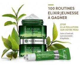Yves Rocher: 100 routines Elixir Jeunesse de 3 produits à gagner