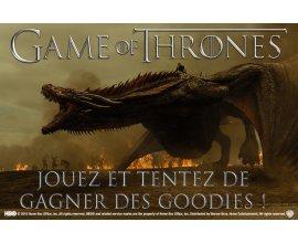 """Allociné: Des goodies de la série """"Game of Thrones"""" à gagner"""