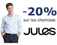 Jules: 20% de réduction sur toutes les chemises