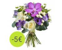 Aquarelle: Le bouquet Rêve d'Orchidée à 23 € au lieu de 28 €