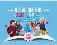 Deezer: [Deezer Famille] 6 profils Premium pour 14,99€ par mois