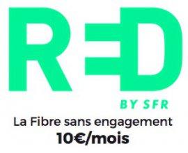 SFR: Box internet Red by SFR avec la fibre sans engagement à 10€ par mois à vie