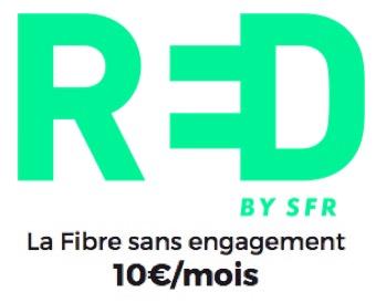 Code promo SFR : Box internet Red by SFR avec la fibre sans engagement à 10€ par mois à vie