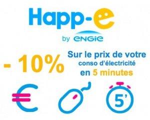 Happ'e: -10% sur le prix de vos consommations d'électricité la 1ère année et -8% la 2ème