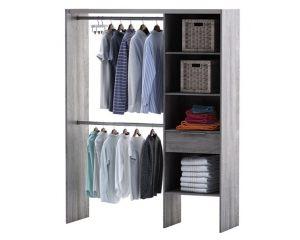 15 de r duction sur les kits dressing et accessoires de rangement castorama. Black Bedroom Furniture Sets. Home Design Ideas