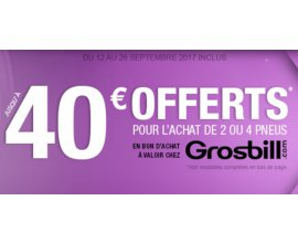 Allopneus: 15€ pour 1 pneu & 40€ offerts chez Grosbill pour l'achat de 2 pneus auto Nexen