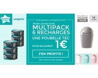 Allobébé: Multipack 6 recharges Tec Sangenic acheté = Poubelle Tec à 1€