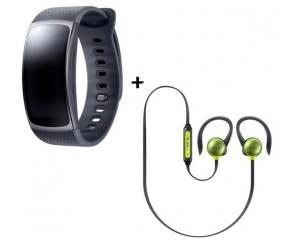 Cdiscount: Bracelet Samsung Gear fit 2 Noir small + écouteurs Level Active Jaune à 139€