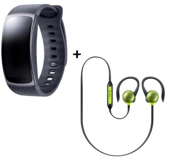 Code promo Cdiscount : Bracelet Samsung Gear fit 2 Noir small + écouteurs Level Active Jaune à 139€