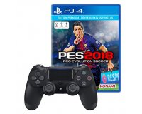 Amazon: PES 2018 sur PS4 + 1 Manette DualShock V2 à 75,99€