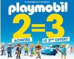 King Jouet: 2 jouets PLAYMOBIL achetés = le 3ème le moins cher offert
