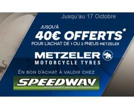 Allopneus: Jusqu'à 40€ à valoir chez Speedway pour l'achat de pneus moto Metzeler