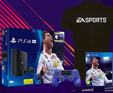 1 console ps4 pro avec 1 jeu fifa 18 de nombreux lots. Black Bedroom Furniture Sets. Home Design Ideas