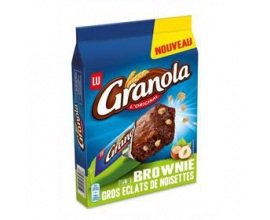 Total: 1 boisson chaude achetée = 1€ de remise sur les Brownies Granola