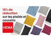 HEMA: 15% à économiser sur les plaids et les coussins