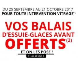 Carglass: Essuie-glaces avant Bosch OFFERTS pour toute intervention vitrage