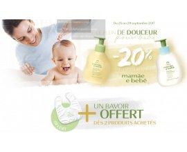 Natura Brasil: -20% sur la gamme Mamãe e bebê + bavoir offert