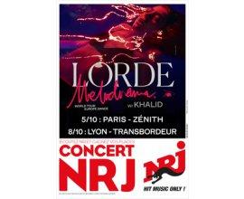 NRJ: 4 lots de 2 places pour le concert de Lorde le 05/10 à Paris à gagner