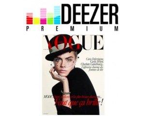 Deezer: 3 mois d'abonnement à Deezer Premium+ et au magazine Vogue offerts gratuitement