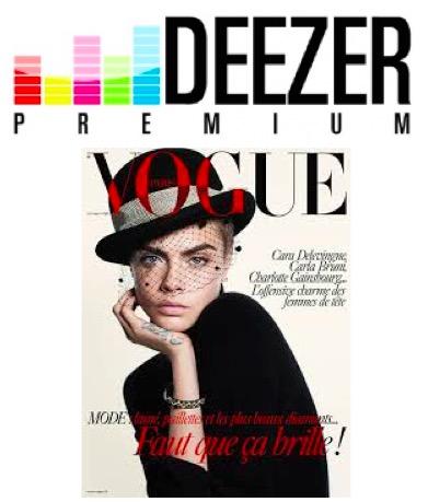 Code promo Deezer : 3 mois d'abonnement à Deezer Premium+ et au magazine Vogue offerts gratuitement