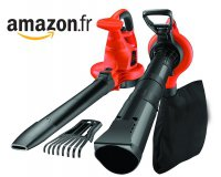 Amazon: Aspirateur / Souffleur / Broyeur de feuilles Black&Decker BDBV30 3000W à 66,99€