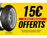 Dafy Moto: 1 pneus route Dunlop acheté = 15€ de réduction offerts