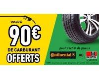 Feu Vert: Jusqu'à 90€ de Carburant Offerts pour l'achat de pneus Continental ou Uniroyal