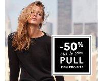 Etam: 50% de réduction sur le 2ème Pull acheté