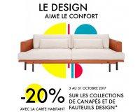 Habitat: 20% de réduction sur lescollections de canapés et de fauteuils design