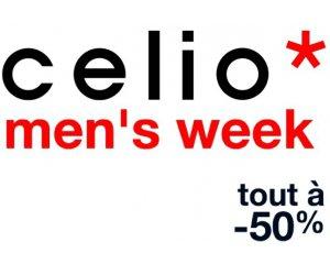 Celio*: Men's Week : -30% ou -50 % sur de nombreux articles pour Homme