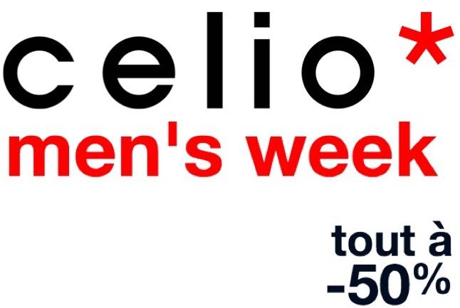 Code promo Celio* : Men's Week : -30% ou -50 % sur de nombreux articles pour Homme