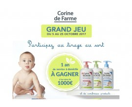 Corine de Farme: Un an de service à domicile pour une valeur de 1000€ à gagner