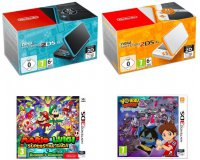 Auchan: Nintendo 2DS XL + Mario & Luigi Superstar Saga ou Yo Kai Watch 2 à 154,99€