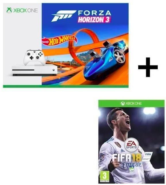 Code promo Cdiscount : Pack Xbox One S Forza Horizon 3 Hot Wheels + Fifa 18 à 219,99€