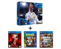 Auchan: PS4 500Go + Fifa 18 + Tekken 7 + Crash Bandicoot + GTA V à 309,99€