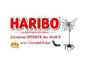 livraison offerte en point relais d s 40 d 39 achat sur le site haribo. Black Bedroom Furniture Sets. Home Design Ideas