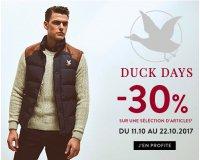 Chevignon: [Duck Days] 30% de de remise sur une sélection d'articles + -10% suppl.