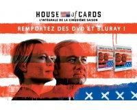 """Allociné: 5 Blu-ray & 5 DVD de la série """"House of cards - Saison 5"""" à gagner"""