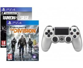 Auchan: Manette PS4 Silver + The Division ou Rainbow Six Siege à 59,99€