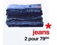Celio*: 2 jeans Homme pour 79,99€