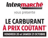 Intermarché: Opération carburant à prix coûtant chez Intermarché le 20 et 21 octobre