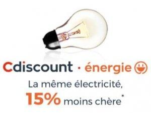 Cdiscount: 15% de réduction sur votre facture d'électricité + 10€ offerts sur votre 3ème mensualité