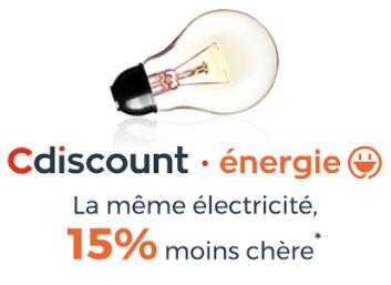 Code promo Cdiscount : 15% de réduction sur votre facture d'électricité + 10€ offerts sur votre 3ème mensualité