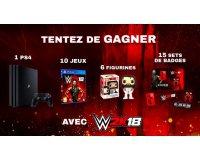 """Jeuxvideo.com: 1 PS4, 10 jeux """"WWE 2K18"""", 6 figurines Funko Pop & 15 set de badges à gagner"""